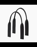 Krótkie uchwyty   Piatto tubolare gommato   Nero
