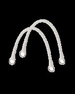 Krótkie uchwyty Micromanico Tubolare Saffiano Latte