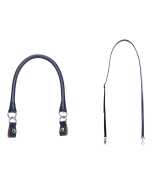 Uchwyt | Tracolla extraslim 110 + manichetto tubolare + clip | Blu navy/argento