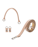 Uchwyt | Tracolla extraslim 110 + manichetto tubolare + clip simil pelle vernice | Rosa smoke
