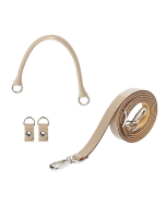 Uchwyt | Tracolla extraslim 110 + manichetto tubolare + clip simil pelle vernice | Sabbia