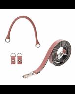 Uchwyt | Tracolla extraslim 110 + manichetto tubolare + clip simil pelle vernice | Cassis
