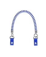 Krótki uchwyt | Manichetto tubolare spirale bicolor + clip | Bluette