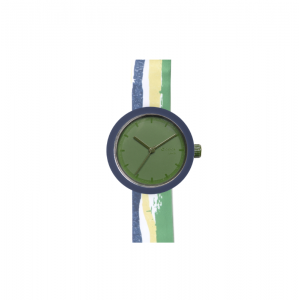 Zegarek O clock shift great foulard watercolor lines Cobalto