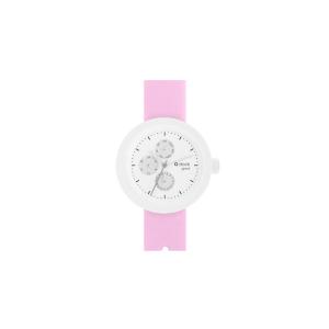 Zegarek O clock shift great transparent satin Rosa