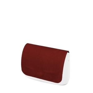 Klapka O bag pocket Simil pelle nubuck Bordeaux
