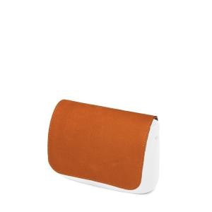 Klapka O bag pocket Simil pelle nubuck Biscotto