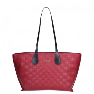 Zestaw O bag chelsea | Ecopelle texture check | Rosso