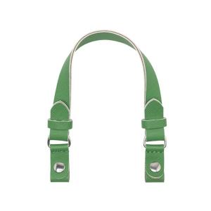 Krótki uchwyt | Eco pelle piatto + clip saffiano | Verde inglese