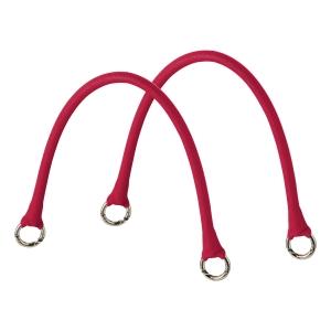 Krótkie uchwyty Micromanico Tubolare Saffiano Ruby red