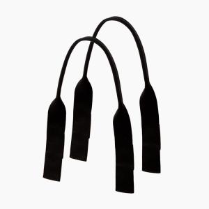 Krótkie uchwyty | Piatto tubolare tessuto nastro | Nero