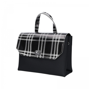 O Bag Body Soft Smooth Mini Con Pattina Check Nero