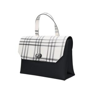 O Bag Body Soft Smooth Mini Con Pattina Check Bianco