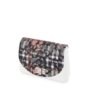 Klapka O bag Glam Check floral Blu navy