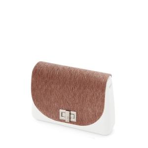Klapka O bag Glam | Velluto plisse | Rosa smoke