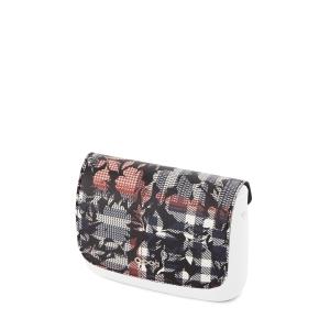 Klapka O Pocket Simil pelle saffiano check floral Blu navy