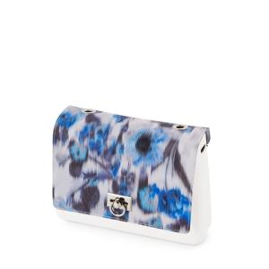 Klapka O Bag glam Occhielli crepe de chine Imperial Blu