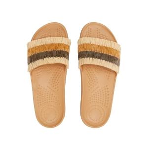 Klapki O slippers donna Rafia Biscotto 40