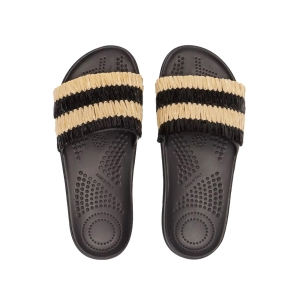 Klapki O slippers donna Rafia Nero rozmiar 35 36