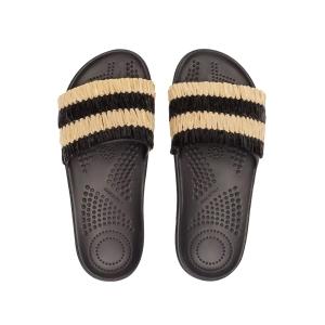 Klapki O slippers donna Rafia Nero rozmiar 37