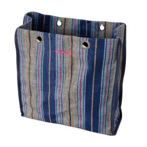 O bag body Market Tessuto intreccio sfumato Cobalto