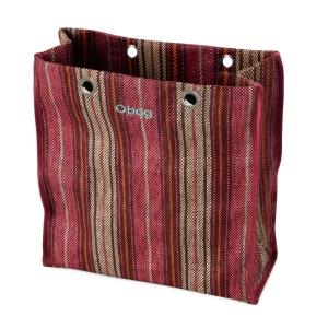 O bag body Market Tessuto intreccio sfumato Sangria