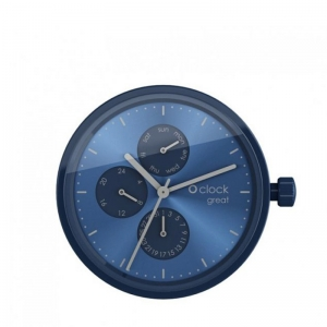 Mechanizm O clock Great Date Blu/silver