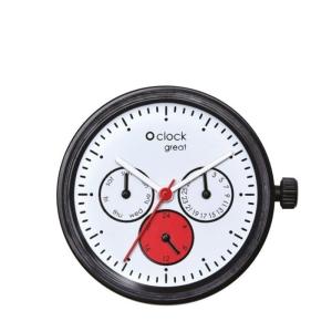 Mechanizm O clock Great Date satin Biaco/Rosso/Nero