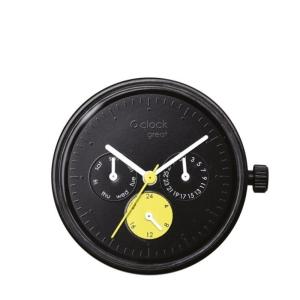 Mechanizm O clock Great Date satin Nero/Giallo/Bianco