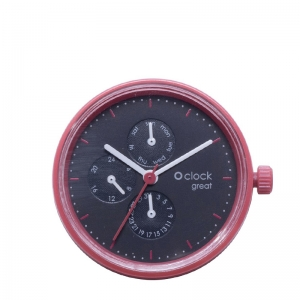 Mechanizm O clock Great date Seconds Rosso