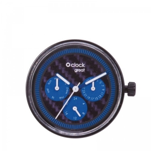 Mechanizm O clock Great Day Time Carbon Blu