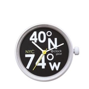 Mechanizm O clock Great New York latitude Bianco/Nero/Cedro