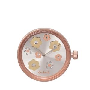 Mechanizm O clock Flower mix crystal Oro rosa