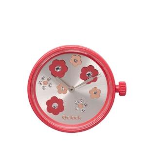 Mechanizm O clock Flower mix crystal Rosso