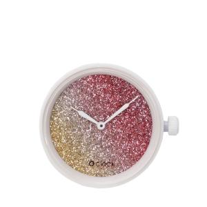 Mechanizm O clock Glitter bicolor Cedro/coral