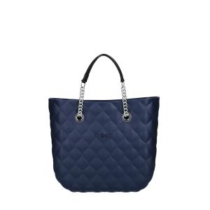 Torebka O bag mini capitonne Blu navy