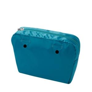 Organizer O bag mini nylon lucido Blue grass