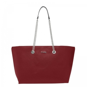 Zestaw O bag chelsea Ecopelle texture check Rosso