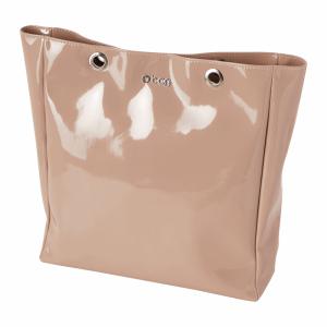 O bag body Market Pelle Vernice Rosa smoke