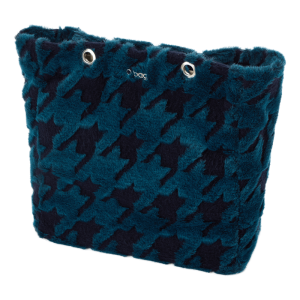 O bag body Market Eco pelliccia laseratura Pied de poule Blu navy/ottanio