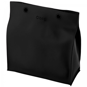 O bag body Market gommato Nero