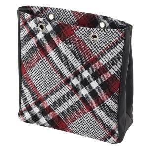 O bag body Market | Tartan | Bianco/Rosso/Nero