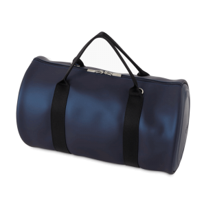 O Bag Round | Blu navy metal