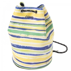 O bag Sailor Watercolor lines Cobalto