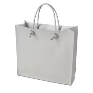 O bag Knots Simil pelle Grigio chiaro
