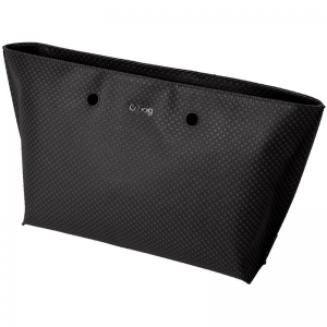 O bag chelsea | Ecopelle texture check | Nero