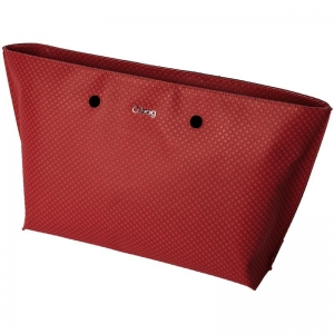 O bag chelsea   Ecopelle texture check   Rosso