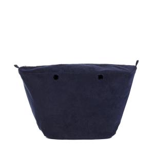 Organizer O bag Knit Cotton corduroy Blu navy