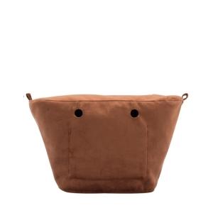 Organizer O bag Knit mini Microfibra Rame