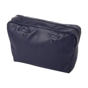 Organizer O bag urban simil pelle nappa Blu navy